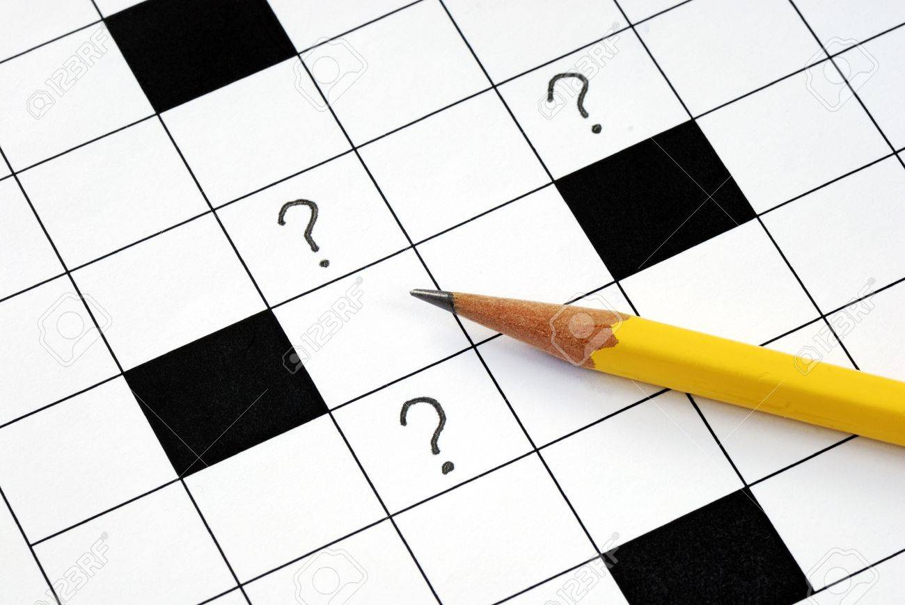 Crossword puzzle with many question marks concepts how to solve the problem Stock Photo - 6752296
