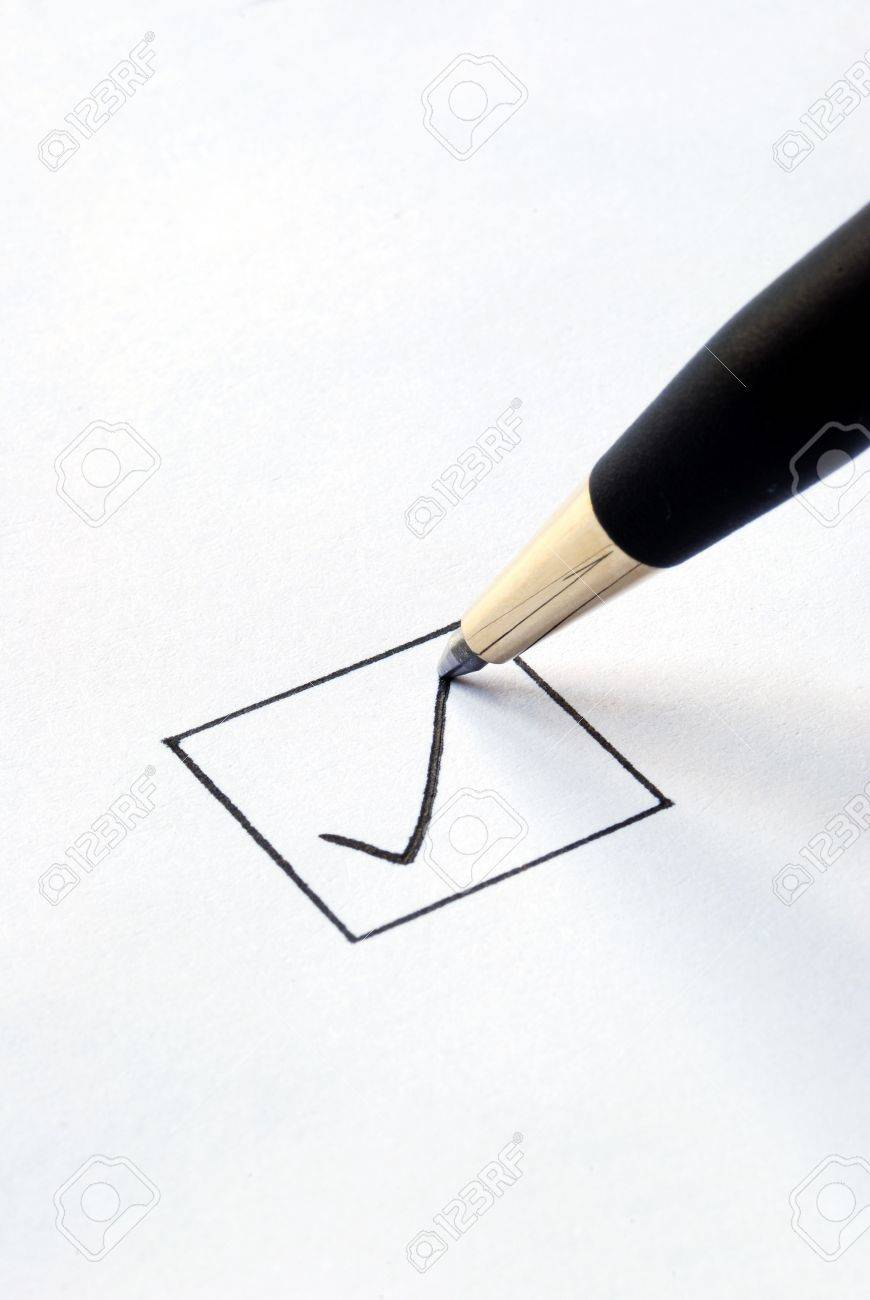 Put the check mark/tick in a box Stock Photo - 6752117