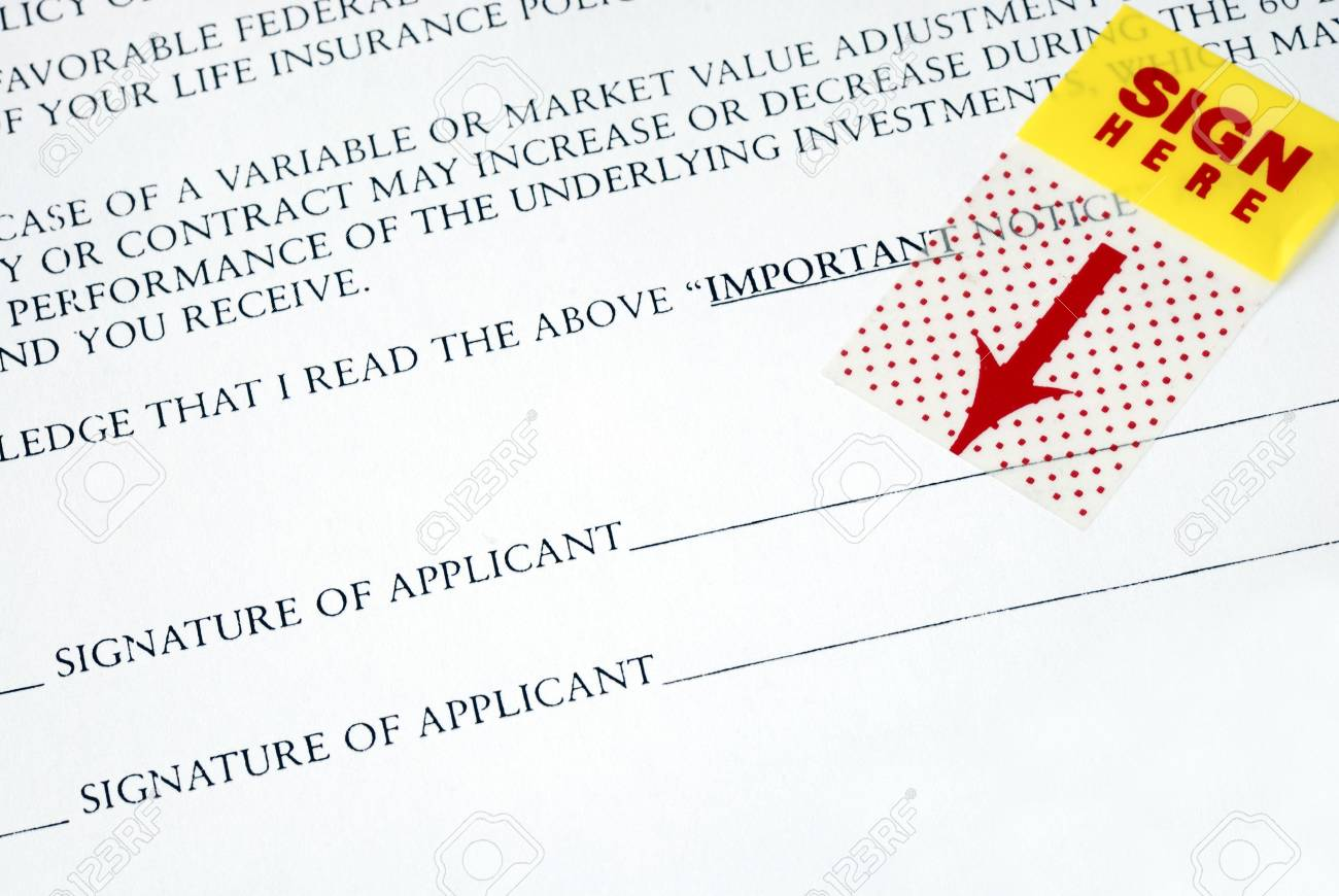 Sign your name here on the contract Stock Photo - 7652702