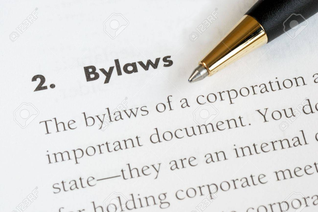 Definition Of The Bylaws Of A Corporation Photo Picture And – Free Bylaws