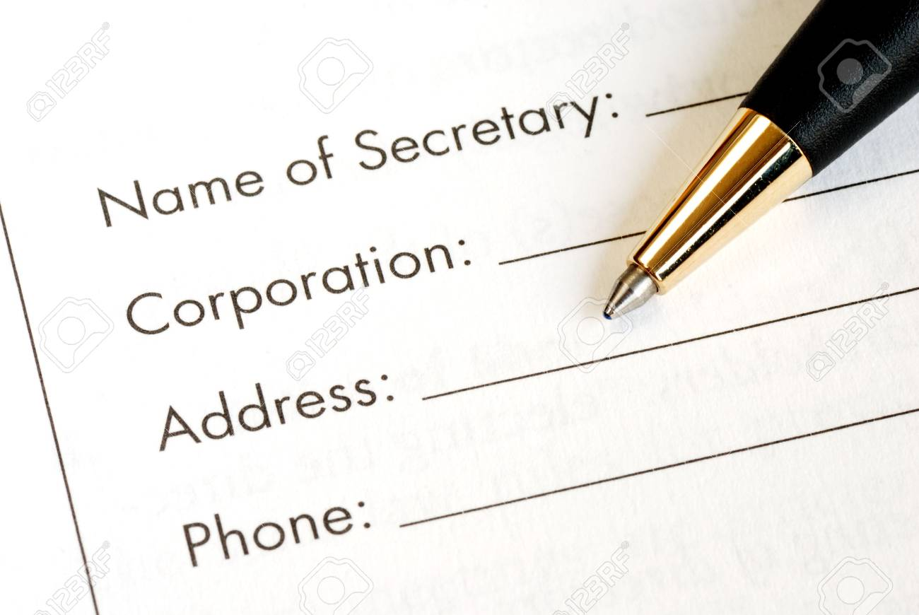 Fill in the information of a corporation Stock Photo - 7277093
