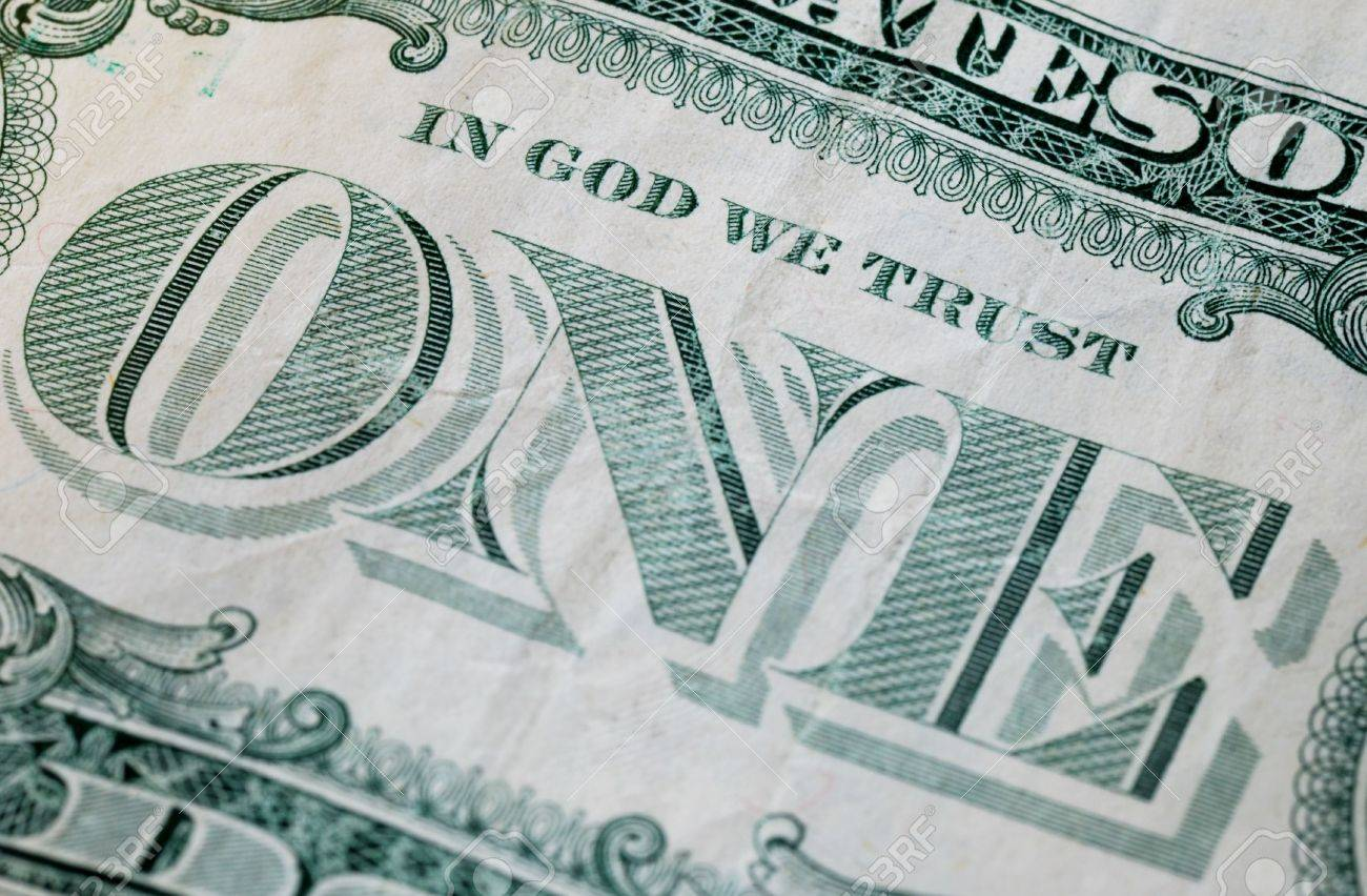 Close up view of the phrase In God We Trust Stock Photo - 7516489