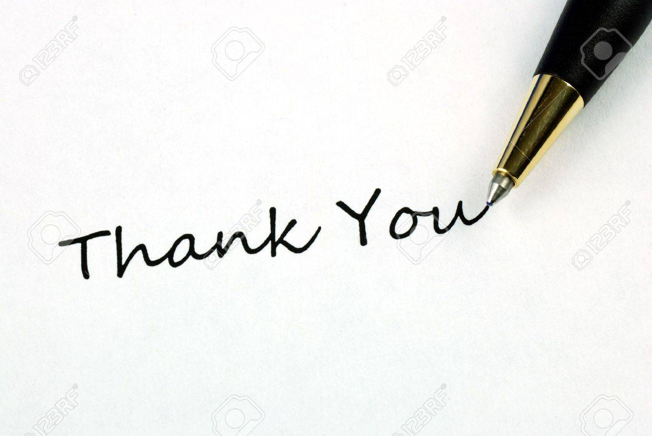 stock photo the words thank you concepts of appreciation and thankfulness