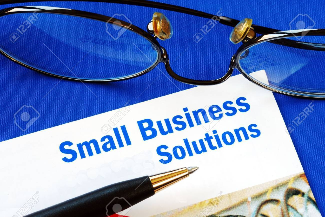 Provide financial solutions and support to Small Business Stock Photo - 10963520