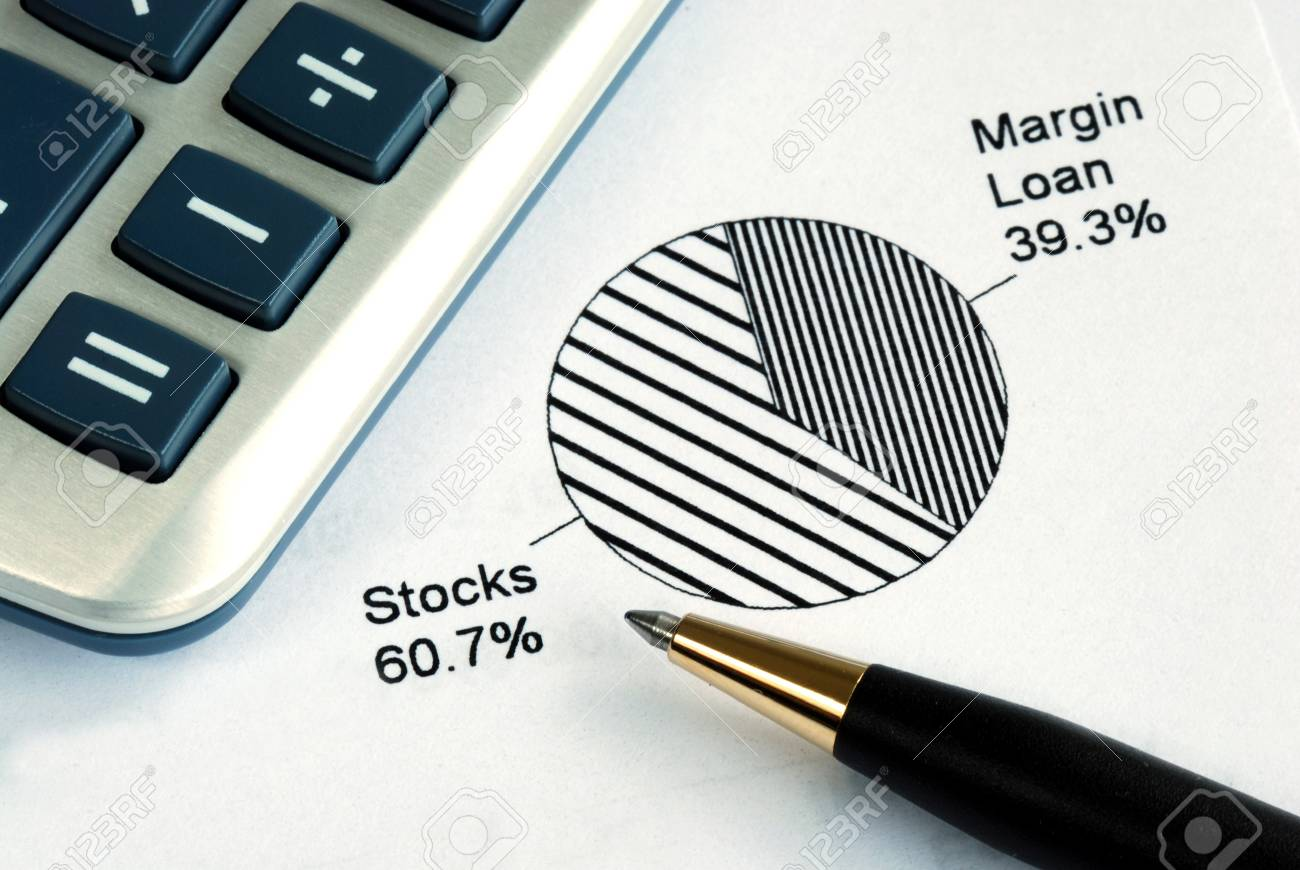 Portfolio allocation illustrates the asset in a pie chart Stock Photo - 17504623