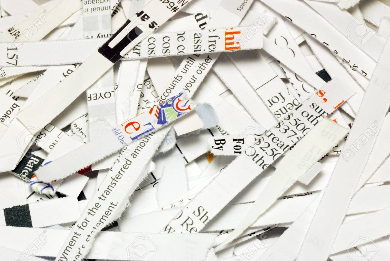 Some shredded paper concepts of confidentiality and privacy Stock Photo - 17710502