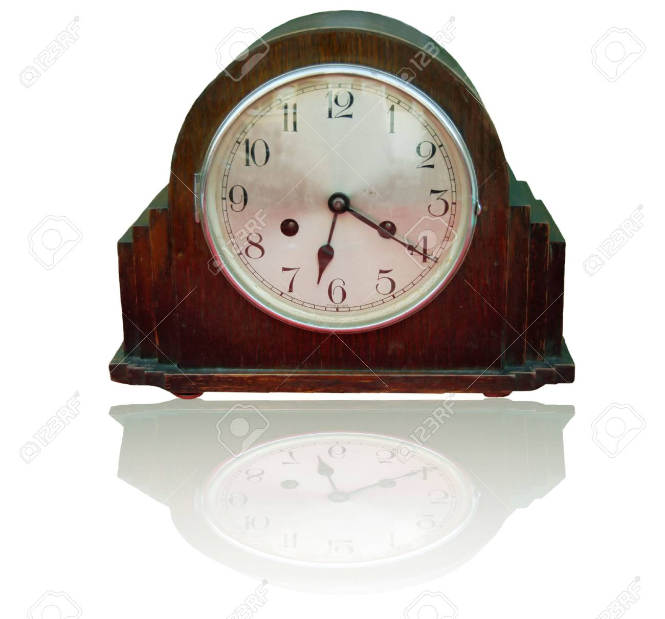 old clock isolated on a white background Stock Photo - 2283042