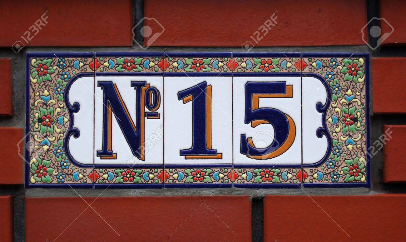 House number tile plaque with floral ornament stock photo house number tile plaque with floral ornament stock photo 2673272 dailygadgetfo Gallery