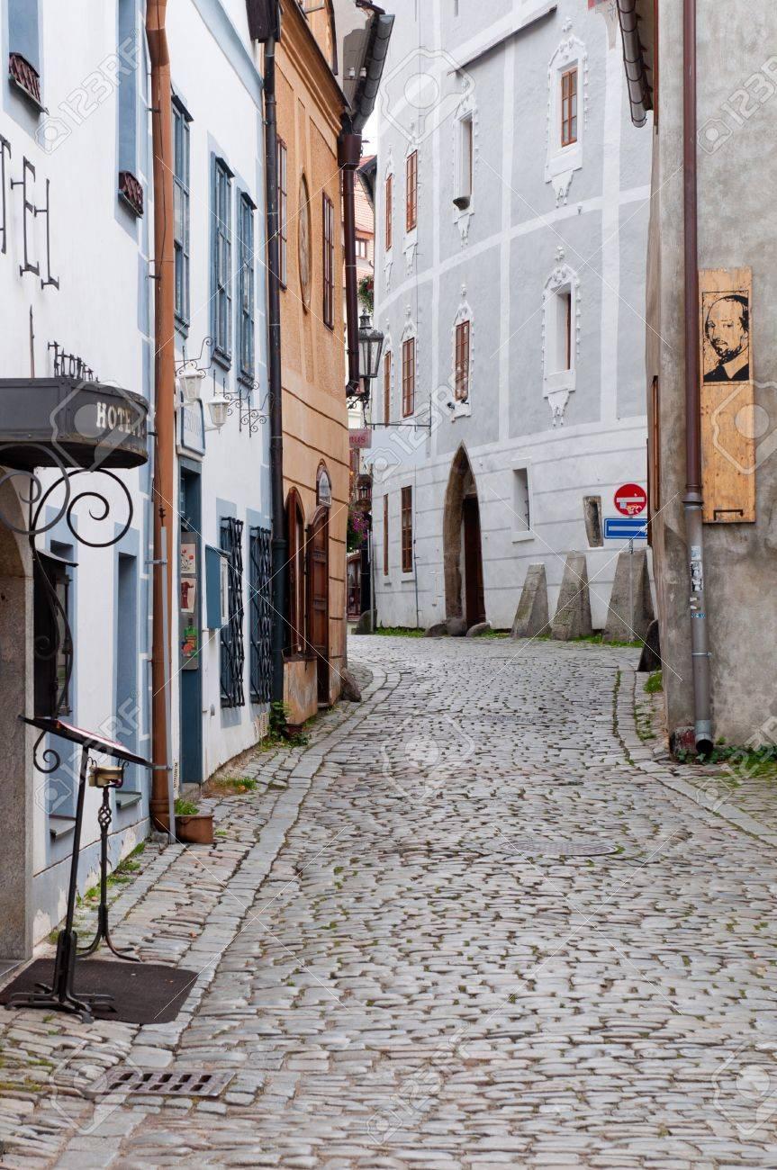 Street of Cesky Krumlov Stock Photo - 8468261