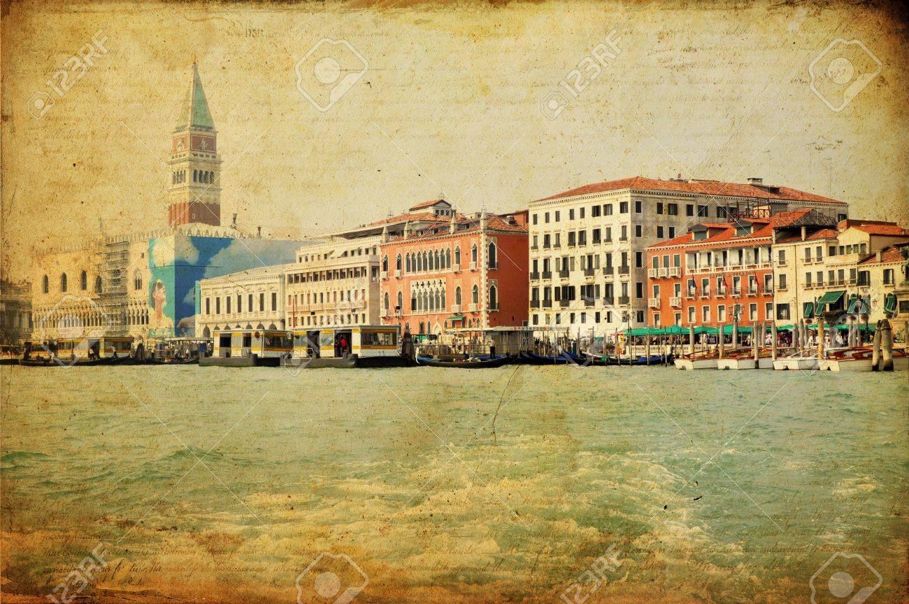 View of Venetian Grand Channel, retro style photo. Stock Photo - 10793828