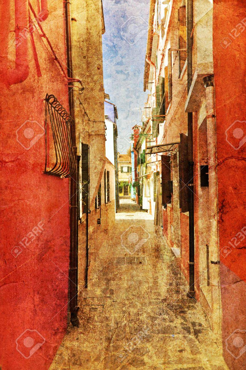 Typical example of unique Venetian architecture. Retro photo style. Stock Photo - 11316363