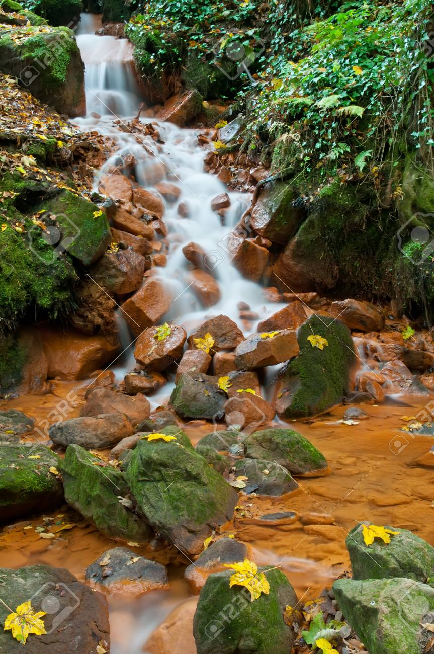 View of beautiful waterfall in the Czech-Saxony Switzerland. Stock Photo - 11563304