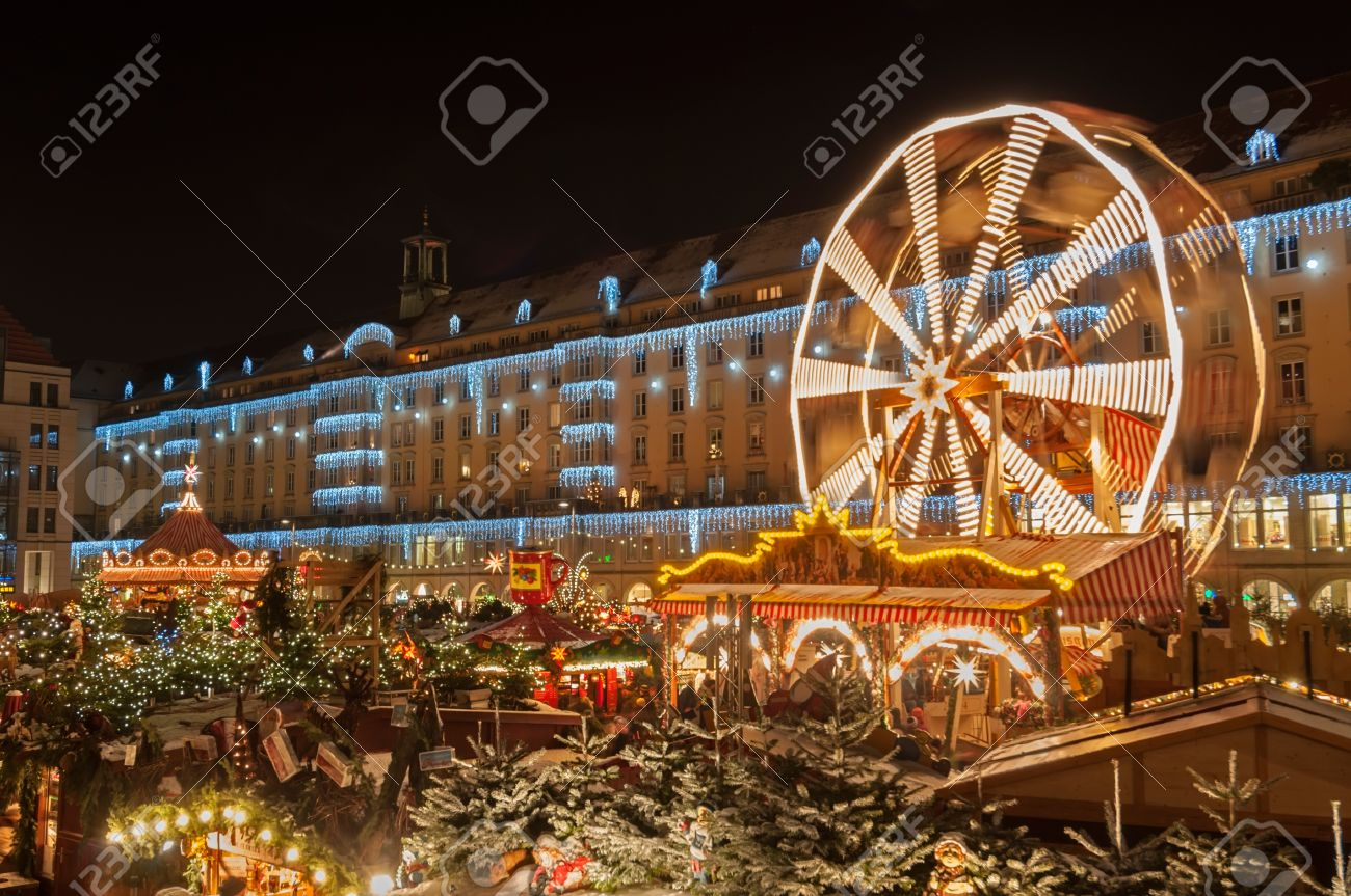 Christmas Market in Dresden. It is Germany's oldest Christmas Market with a very long history dating back to 1434. Stock Photo - 16837444