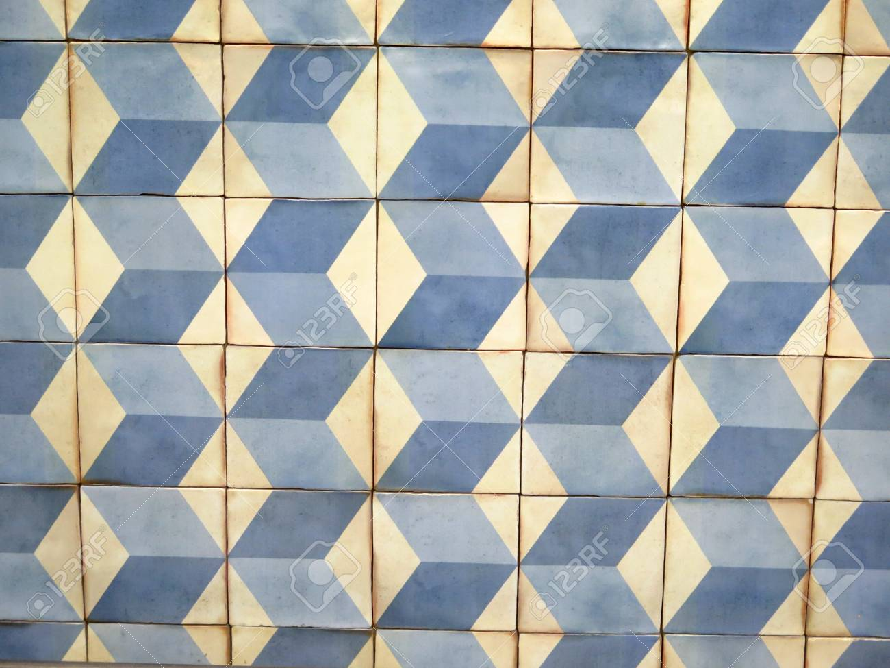 Closeup Of Wall Tiled With Colorful Ceramic Tiles In Malaga Airport ...