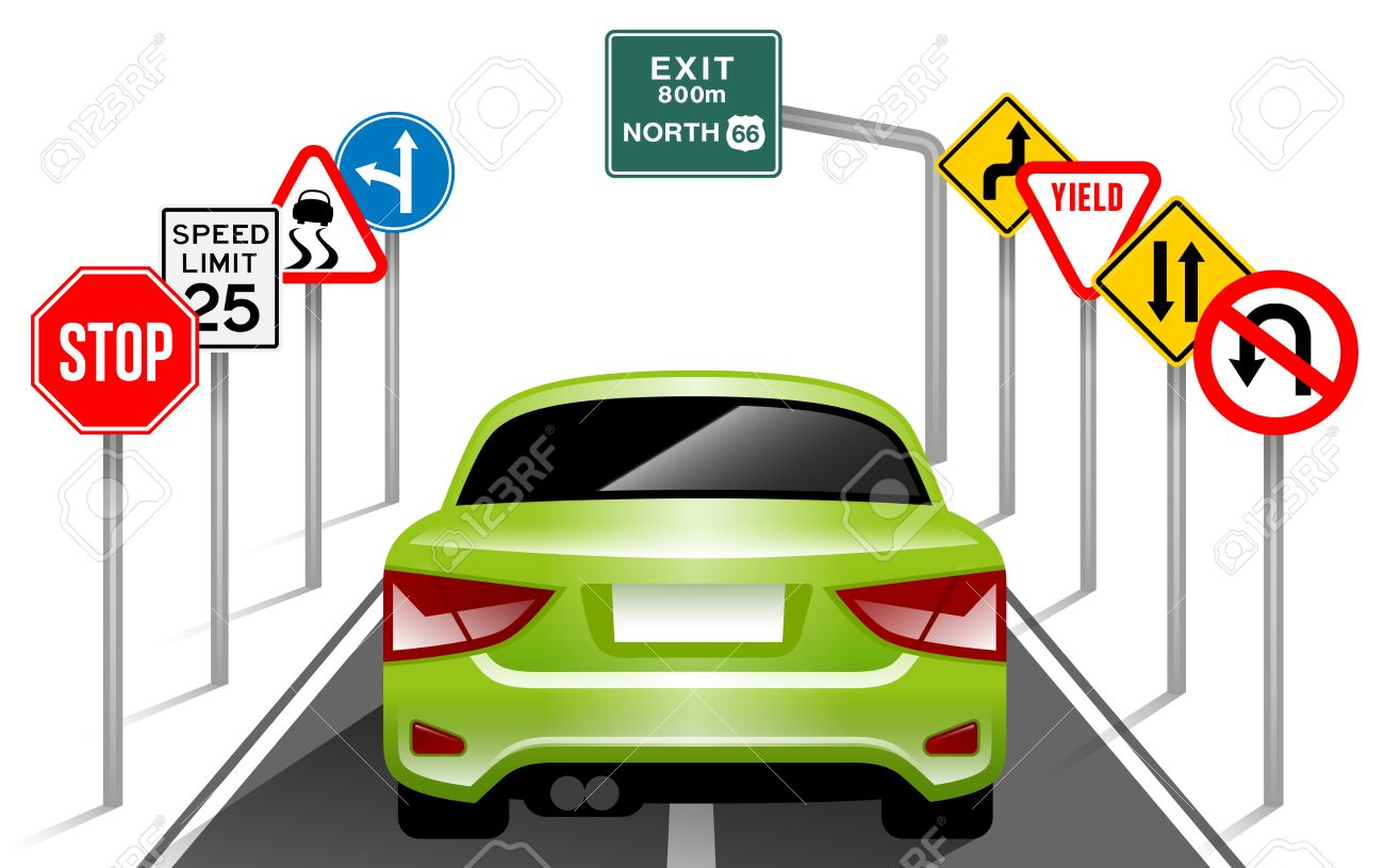 Road signs traffic signs transportation safety travel stock vector 48073200