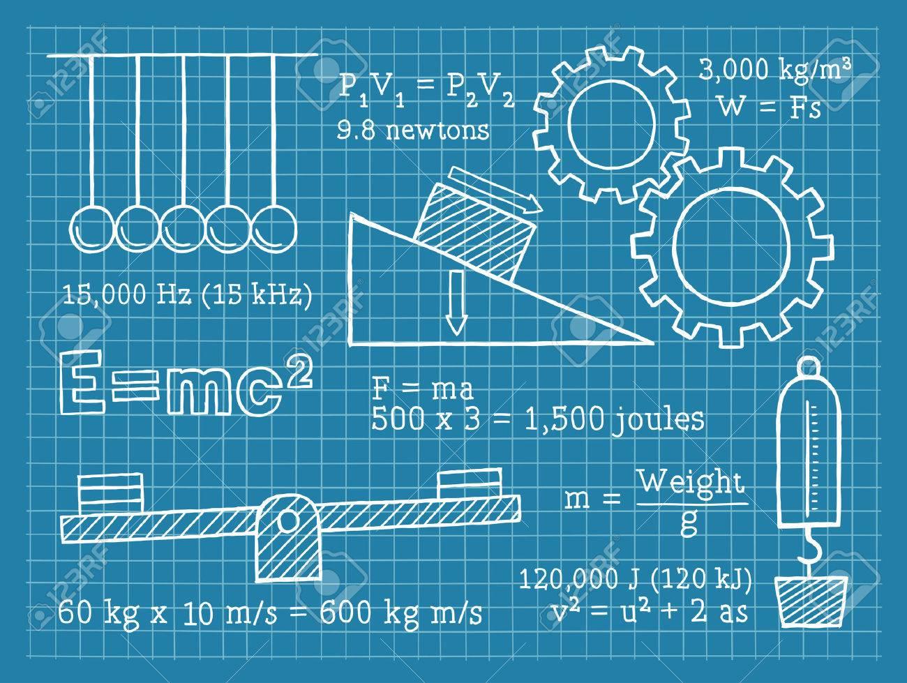 physics science school blueprint royalty free cliparts vectors
