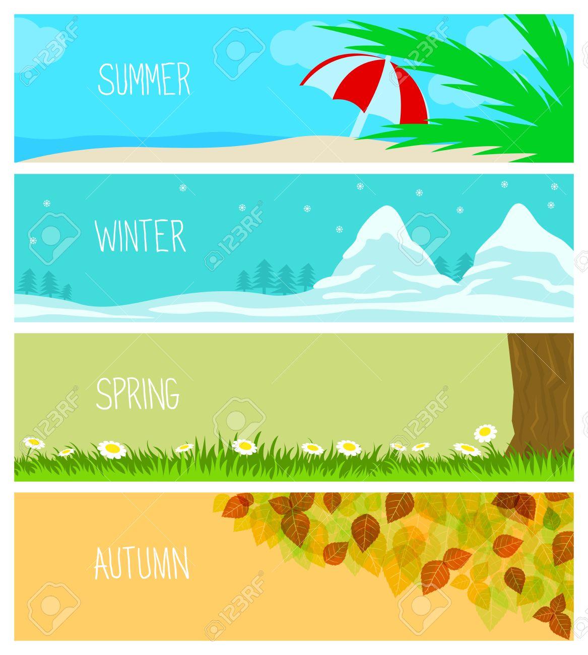 7f1eb5161d23 Estaciones, fondos, verano, invierno, primavera, otoño