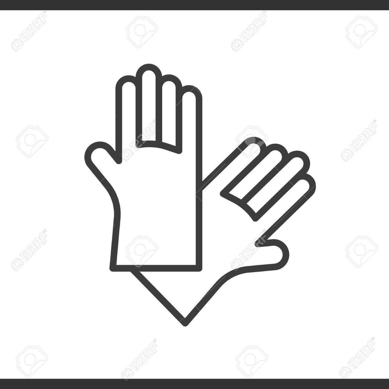 Latex gloves linear icon rubber arms thin line illustration latex gloves linear icon rubber arms thin line illustration vector isolated outline drawing stock biocorpaavc