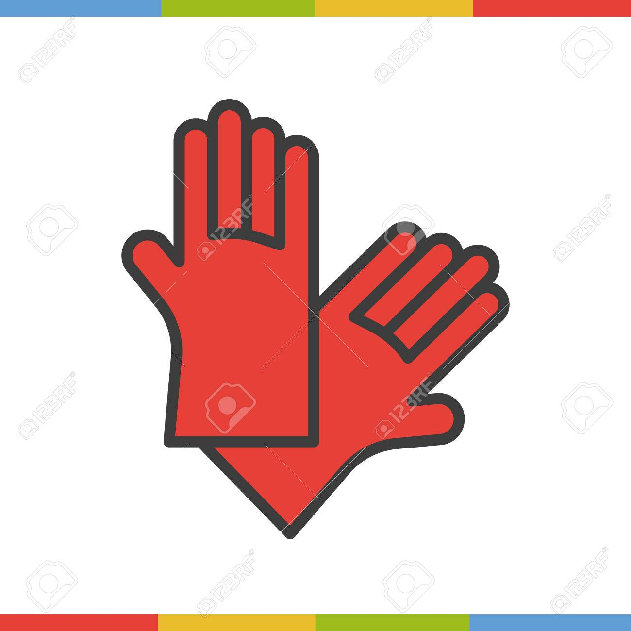 Latex gloves color icon rubber arms in red isolated vector latex gloves color icon rubber arms in red isolated vector illustration stock vector biocorpaavc