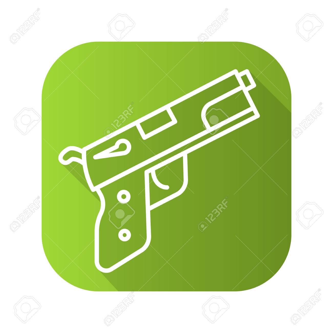 Gun flat linear long shadow icon line symbol royalty free gun flat linear long shadow icon line symbol stock vector 68349577 biocorpaavc