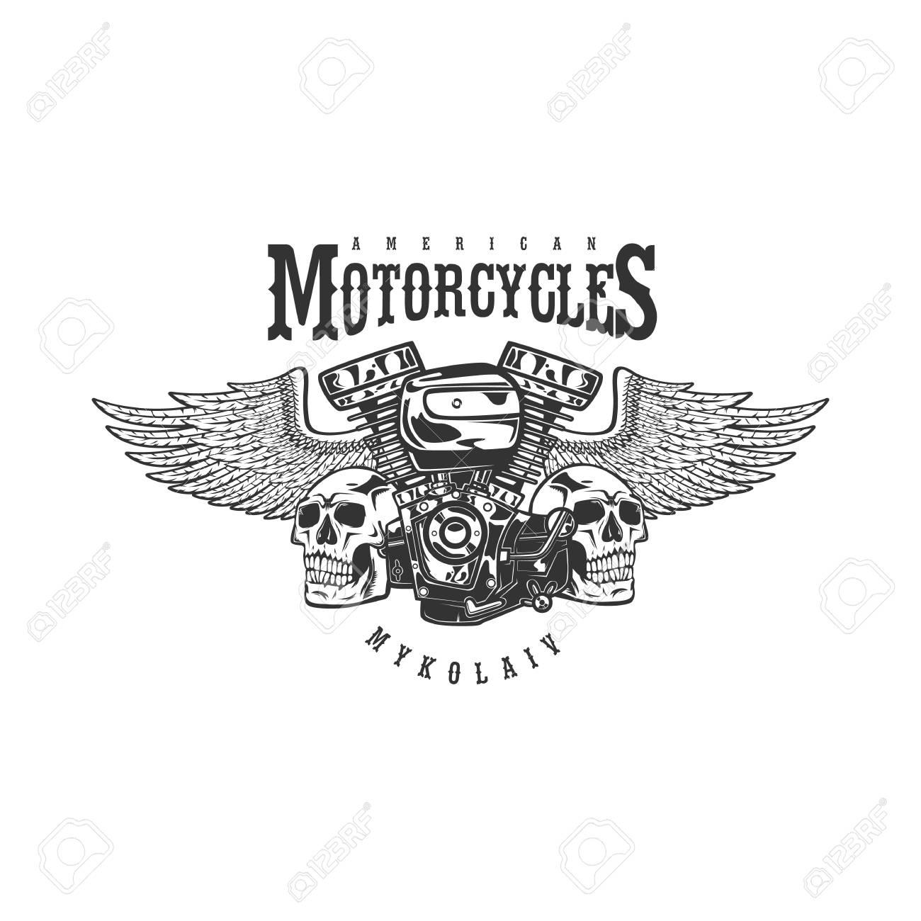 Vintage Custom Motorcycle Emblem, Label, Badge, Print, Template ...