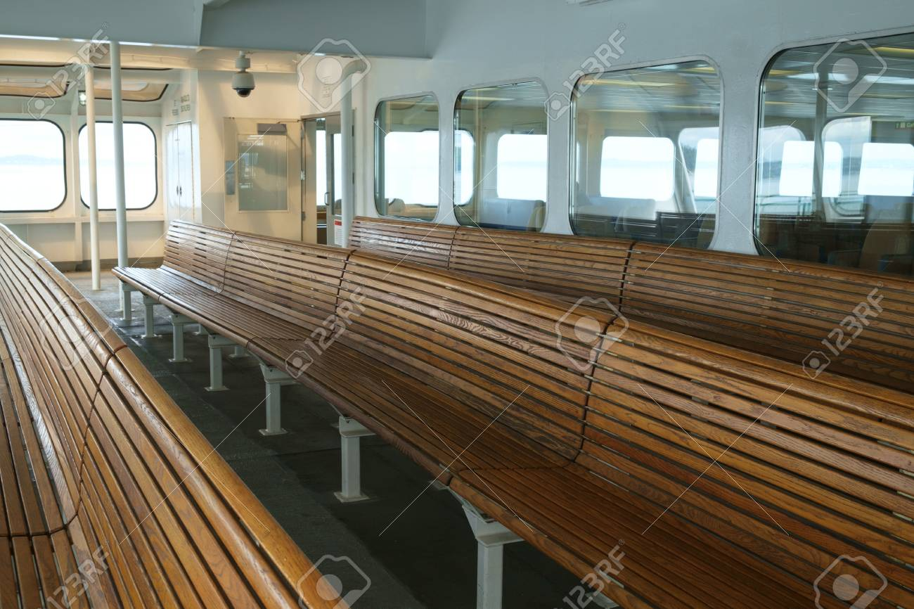 Terrific Front Portion Of Passenger Cabin On Ferry Boat Containing Wooden Evergreenethics Interior Chair Design Evergreenethicsorg