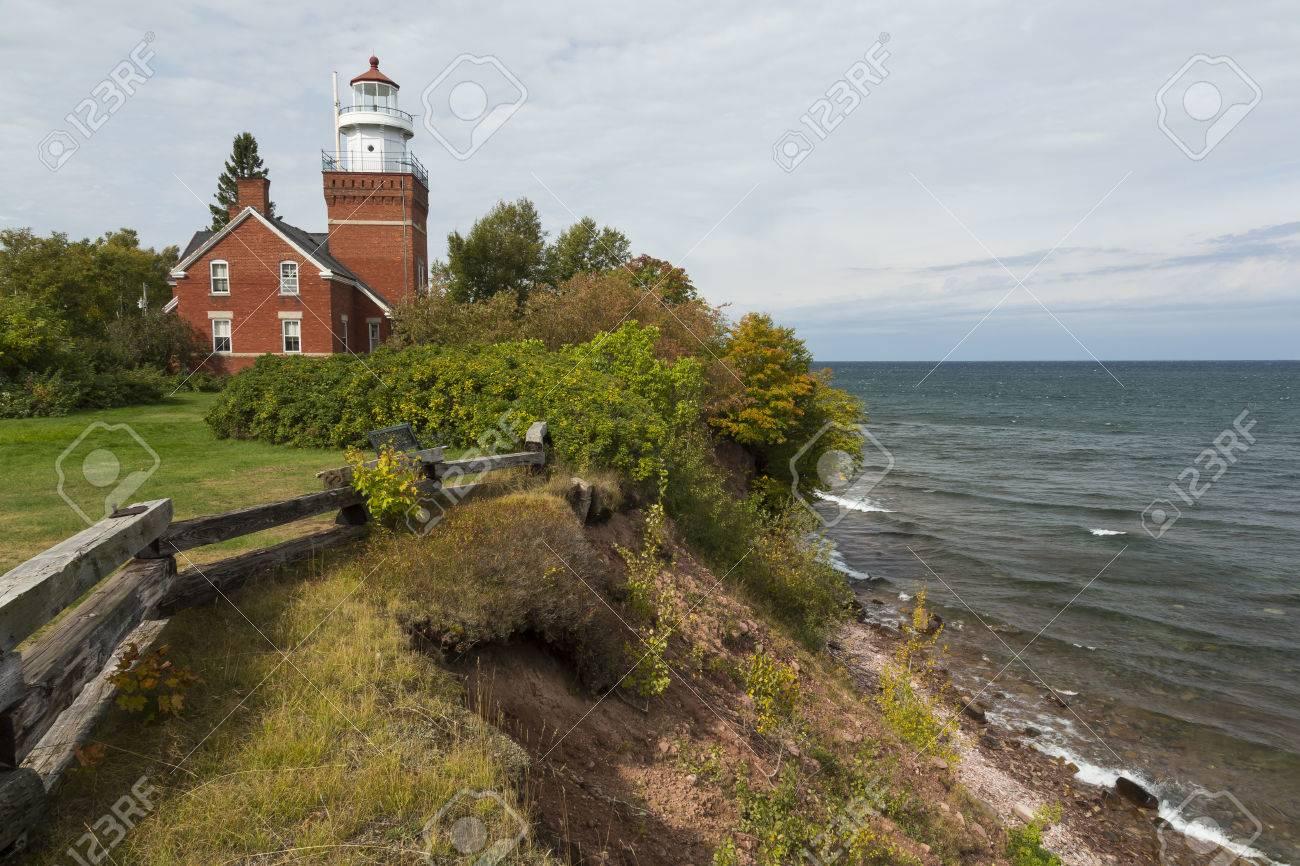 Big Bay Point Lighthouse On Lake Superior - 43451570