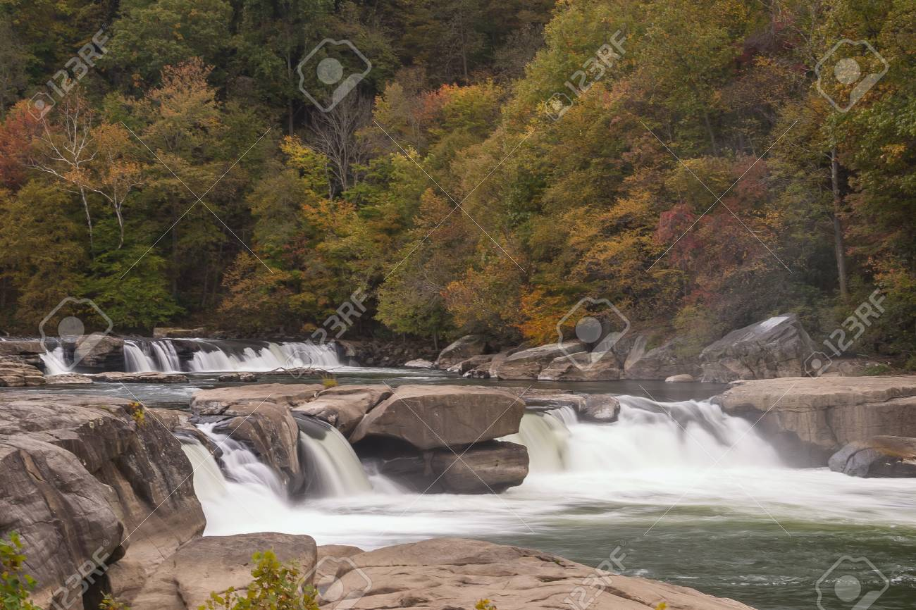 Valley Falls In Autumn - 73597813
