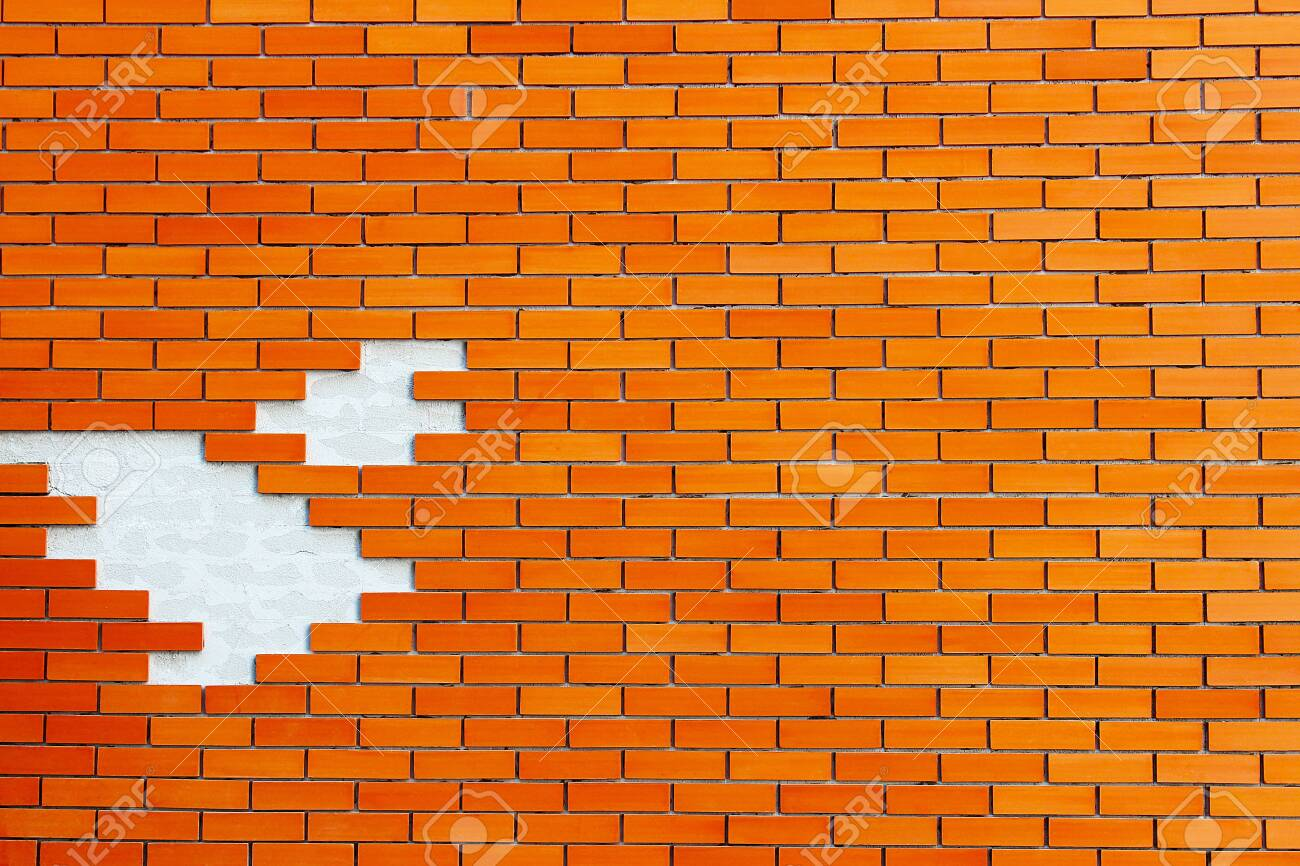 Brown bricks wall as a background - 142382049