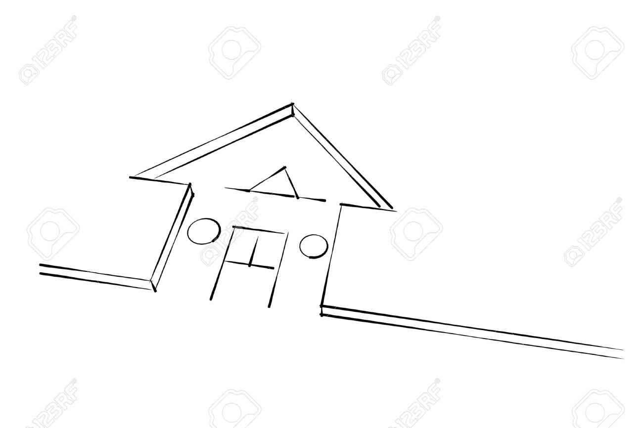 house sketch abstract illustration Stock Photo - 13476733