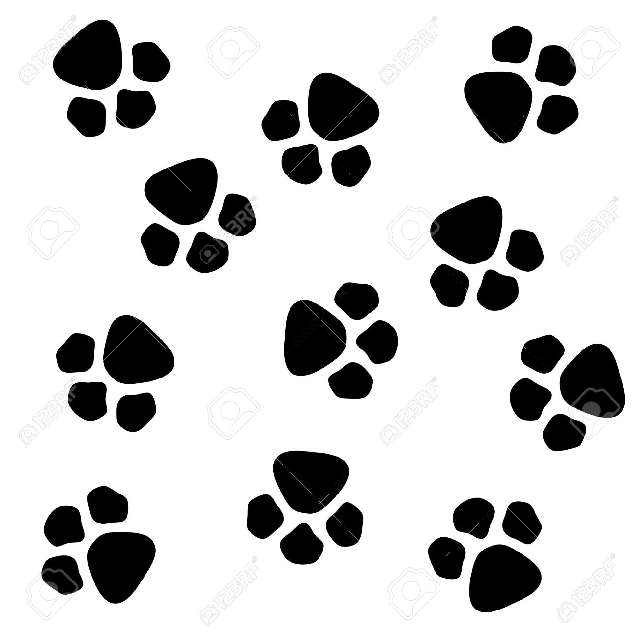 dog paw prints pattern stock photo picture and royalty free image rh 123rf com cartoon dog paw drawing cartoon dog paws images