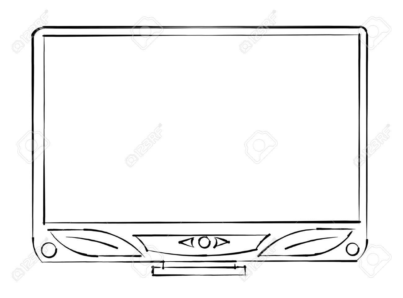tv sketch monitor Stock Photo - 13533164