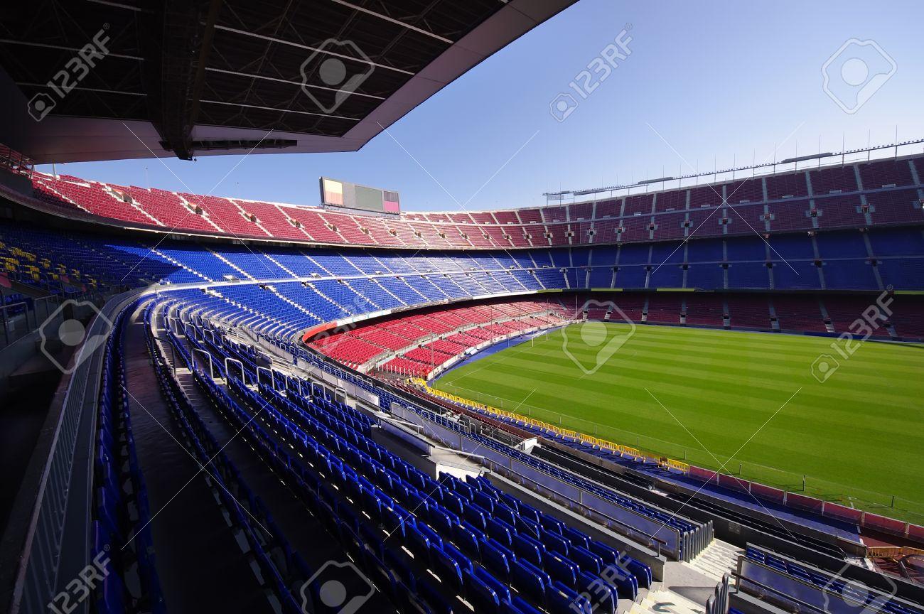Wide View Of FC Barcelona Nou Camp Soccer Stadium Stock Photo ... 7f8240d1e8b