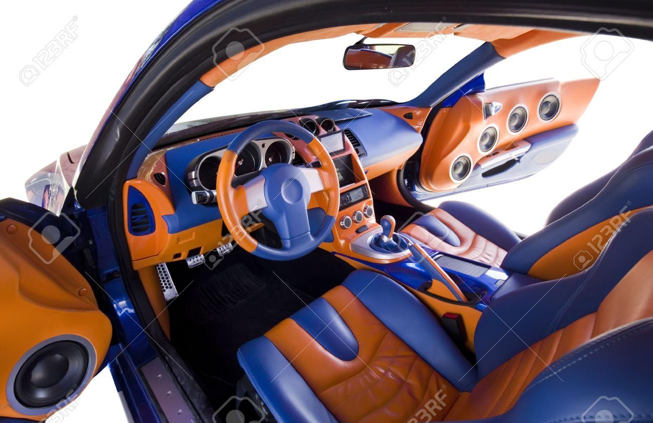 Abstrakte Weiten Blick über Getunte Auto Innenraum Lizenzfreie Fotos ...