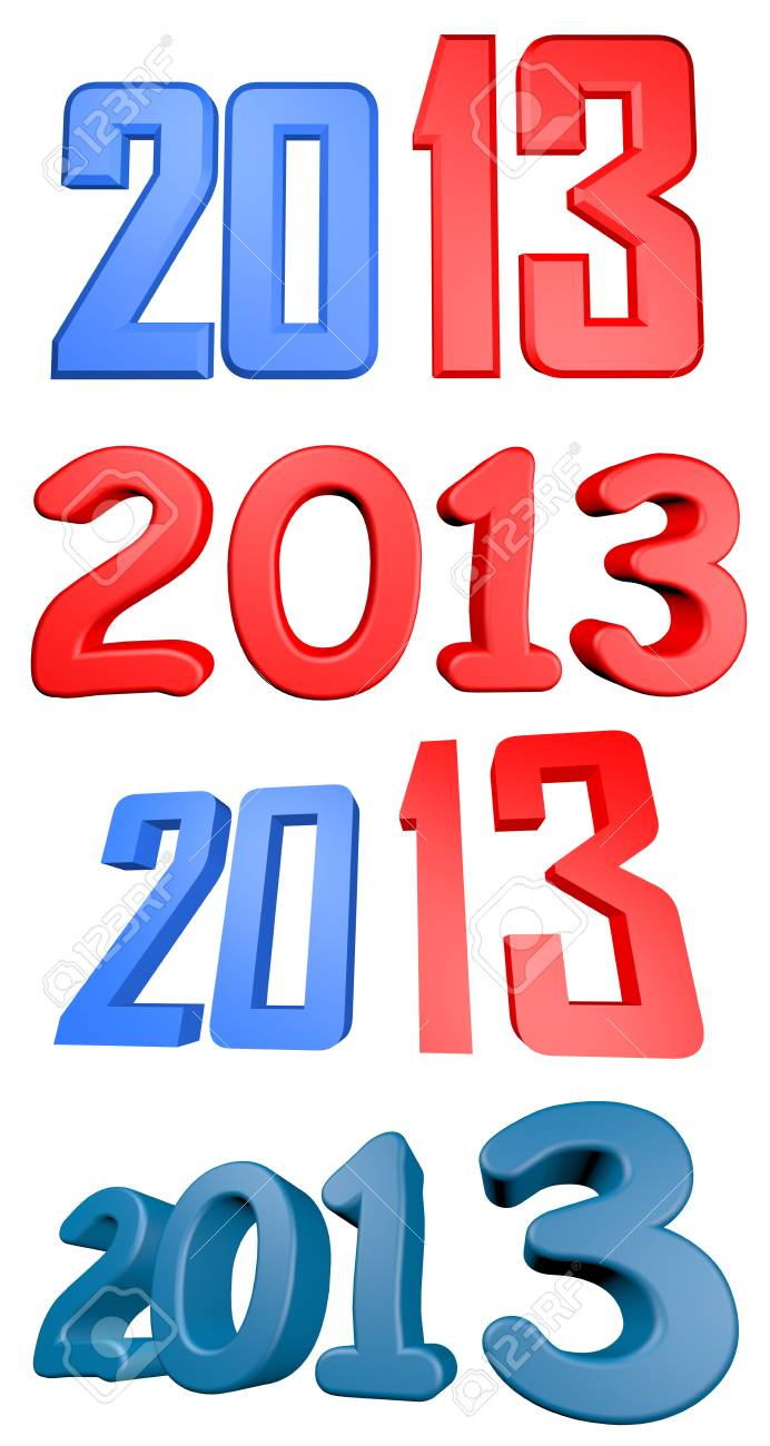 2013 render illustration set Stock Illustration - 16550096