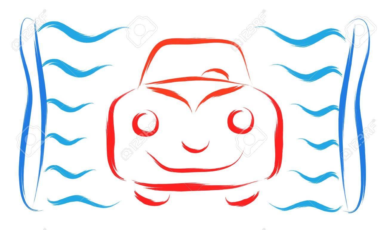 abstract car wash symbol vector illustration Stock Vector - 16699536