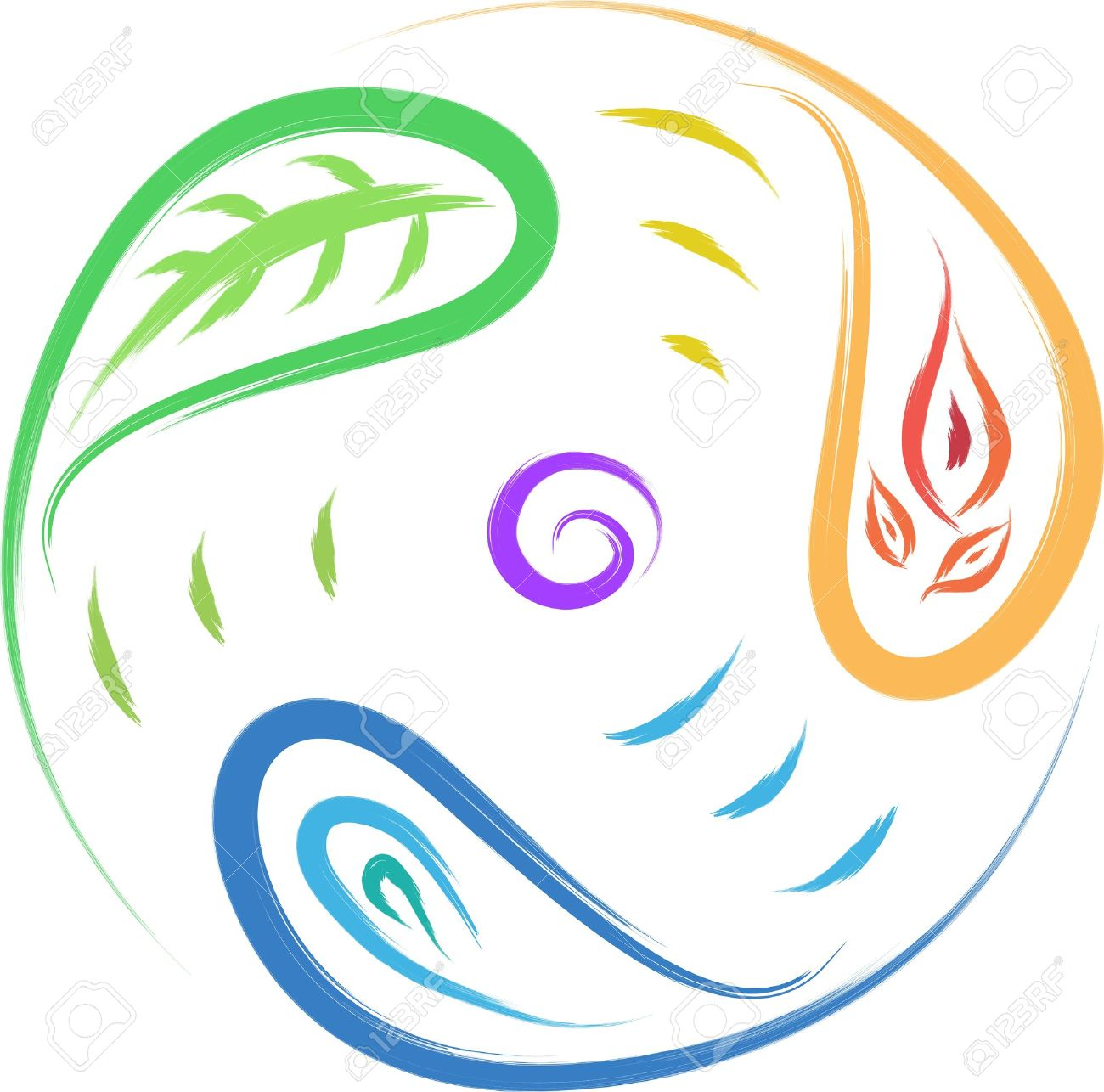 Nature symbol leaf fire water circle of life royalty free nature symbol leaf fire water circle of life stock vector 16806928 biocorpaavc Choice Image