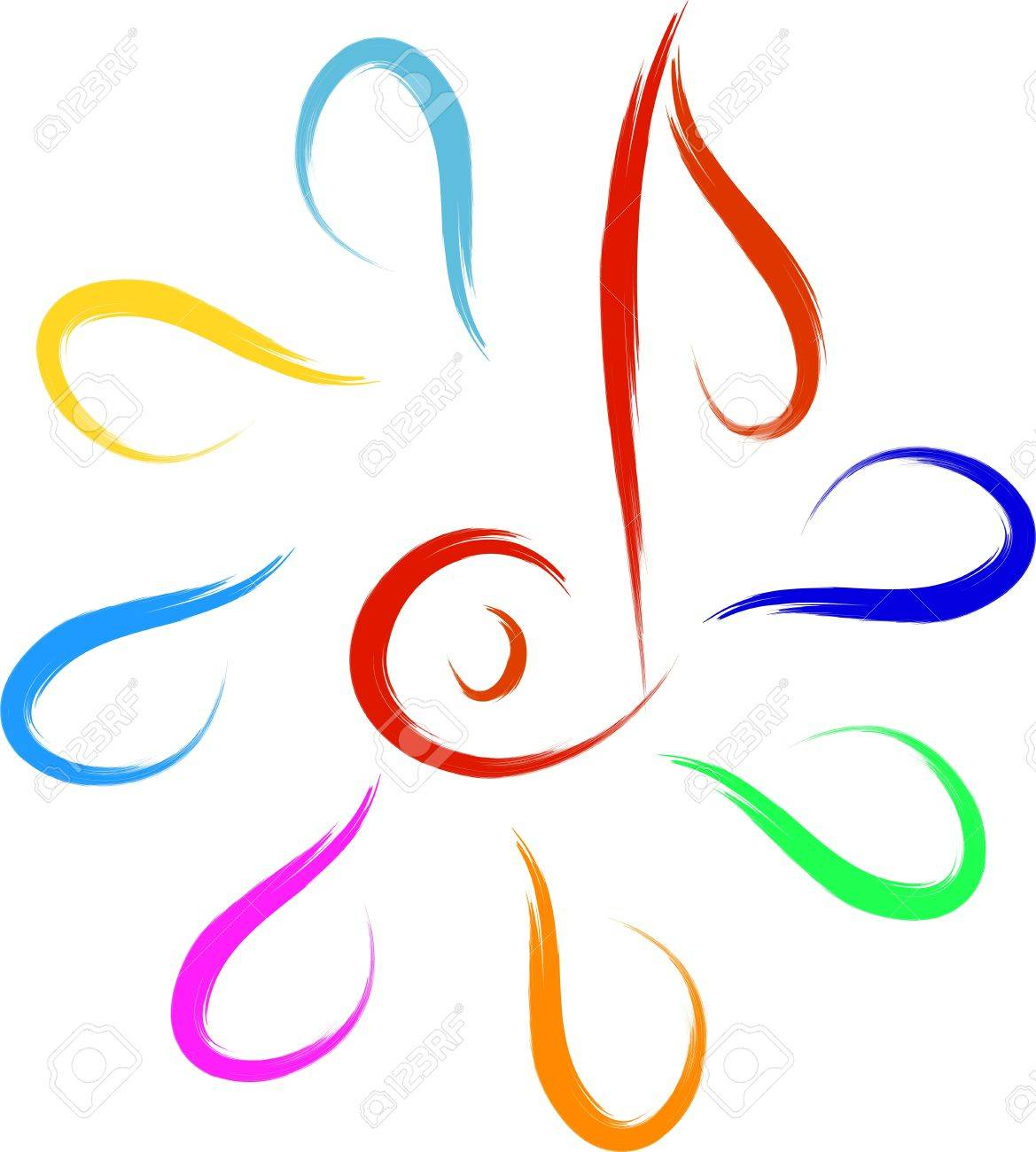 music symbol abstract sketch Stock Vector - 16850607