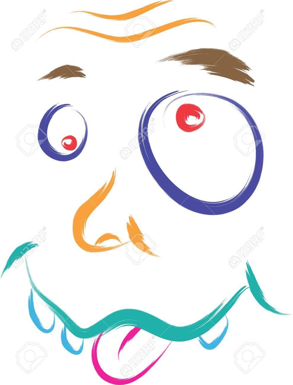 dumb face cartoon illustration Stock Vector - 16850444