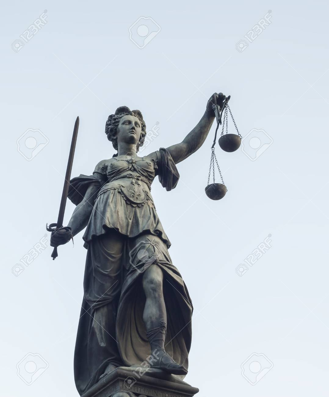 Photo Of Statue Of Lady Justice Statue In Frankfurt Stock Photo Picture And Royalty Free Image Image 106327792