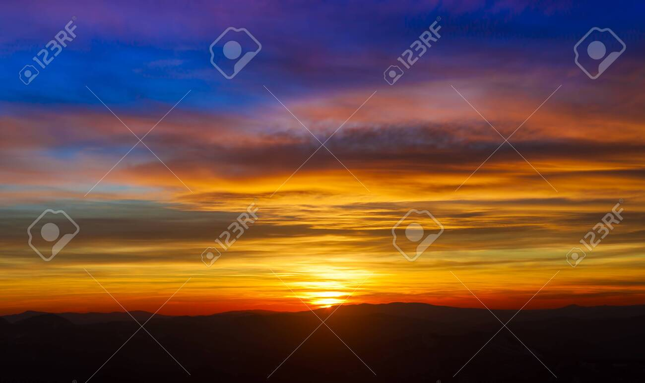 beautiful sunset sky and clouds - 137891618