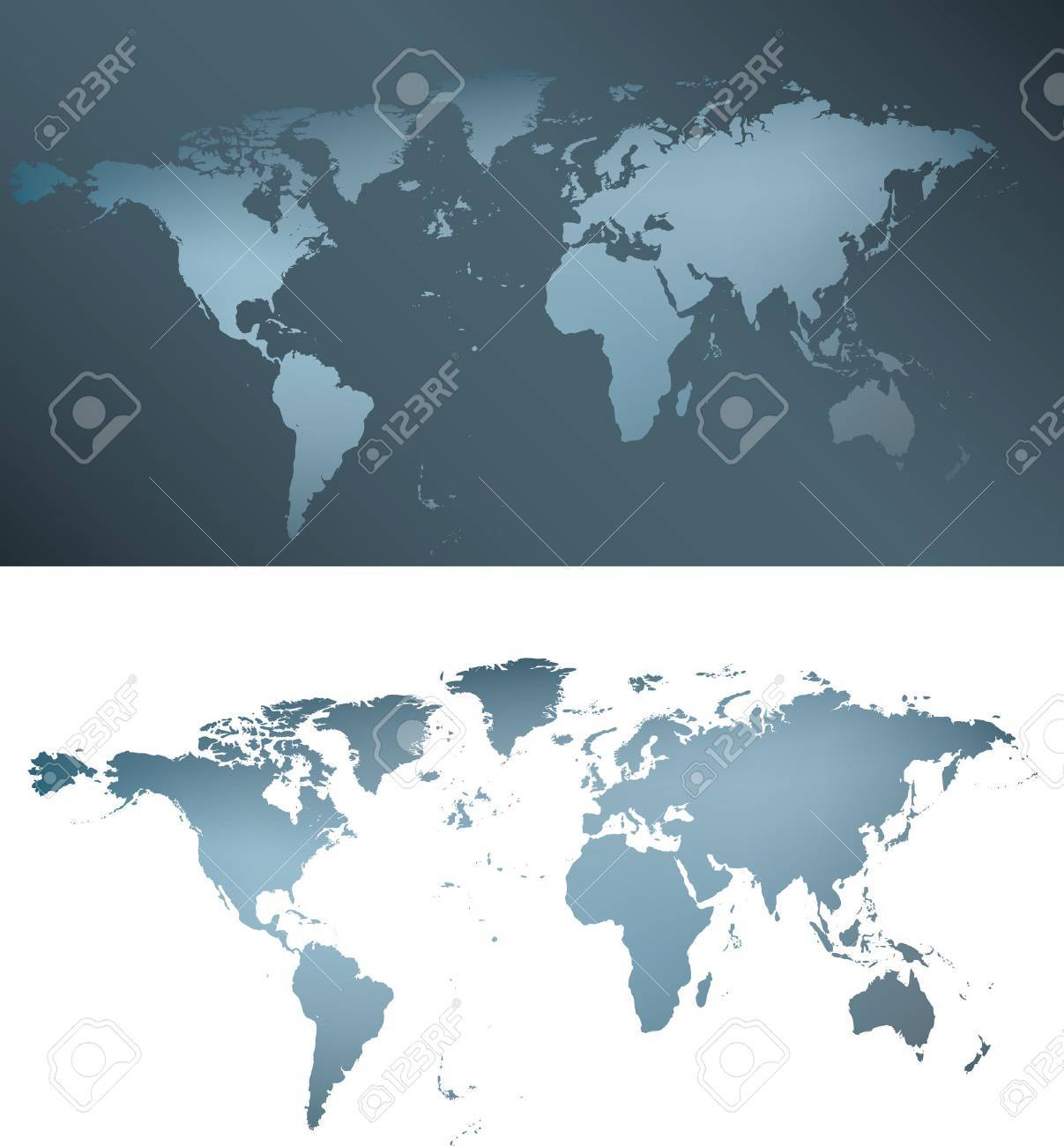 illustration of a grey and blue silver world map Stock Vector - 4759012
