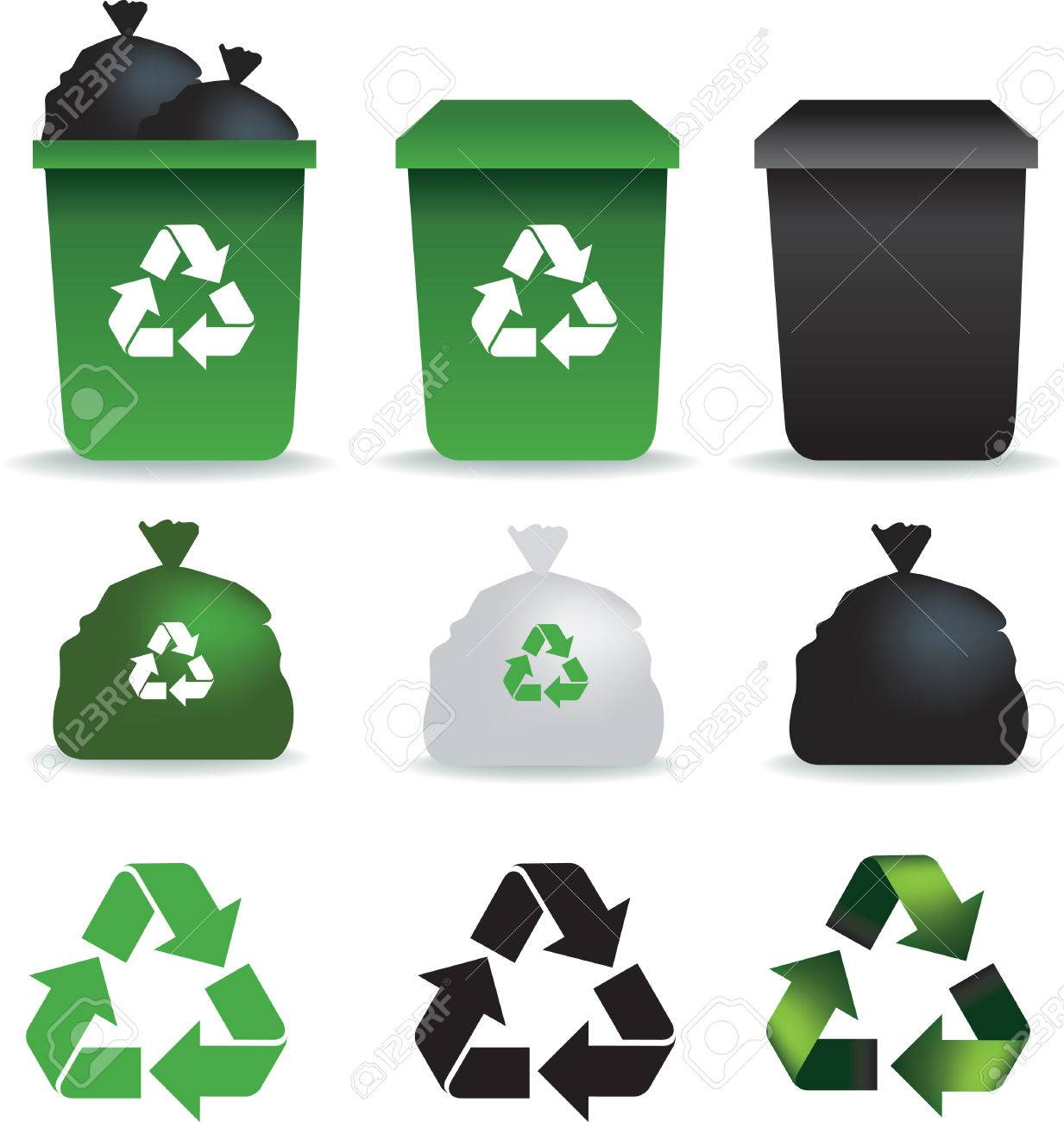 Illustration of a set of rubbish bins and recycle symbols royalty illustration of a set of rubbish bins and recycle symbols stock vector 4773613 biocorpaavc