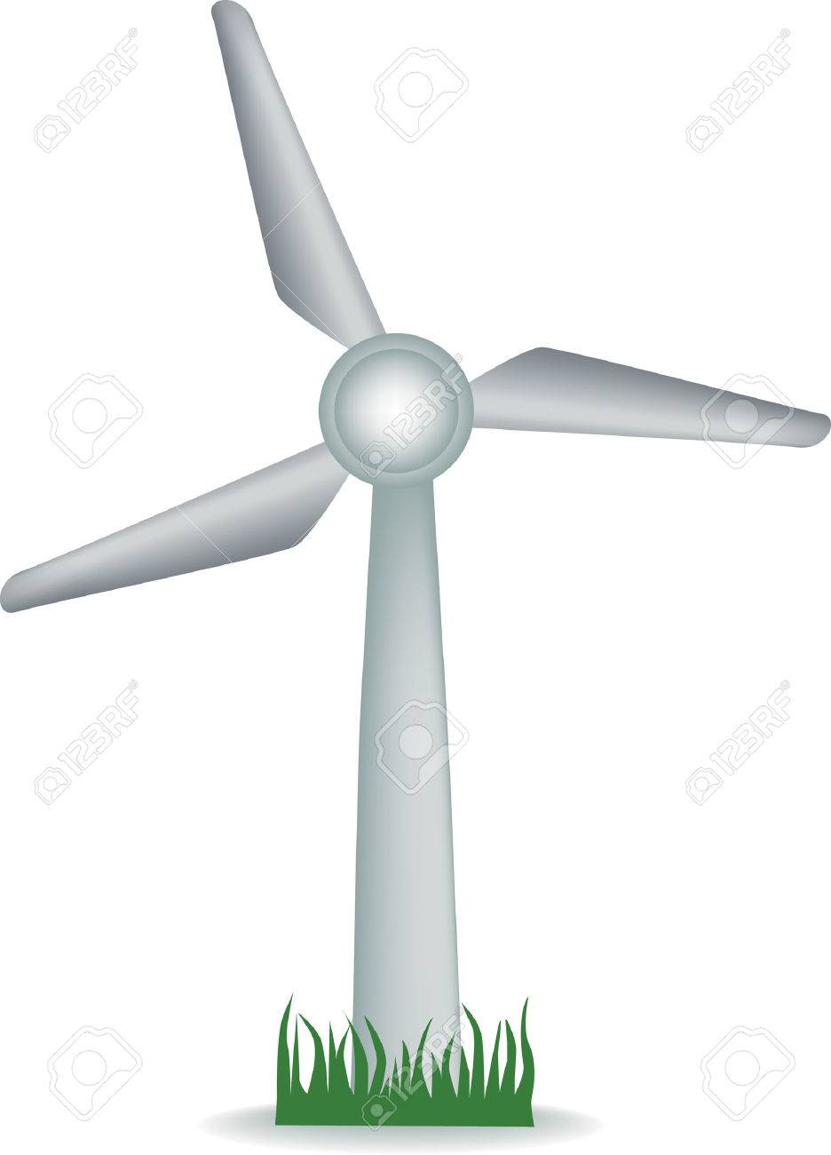 illustration of a wind turbine on grass royalty free cliparts rh 123rf com wind turbine clipart no background animated wind turbine clipart
