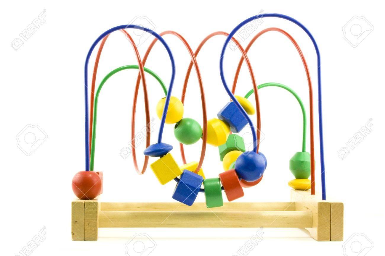 Los Madera Para Pequeños Bolas Un Juguete Aprendizaje Niños Empujar De DHEW9I2