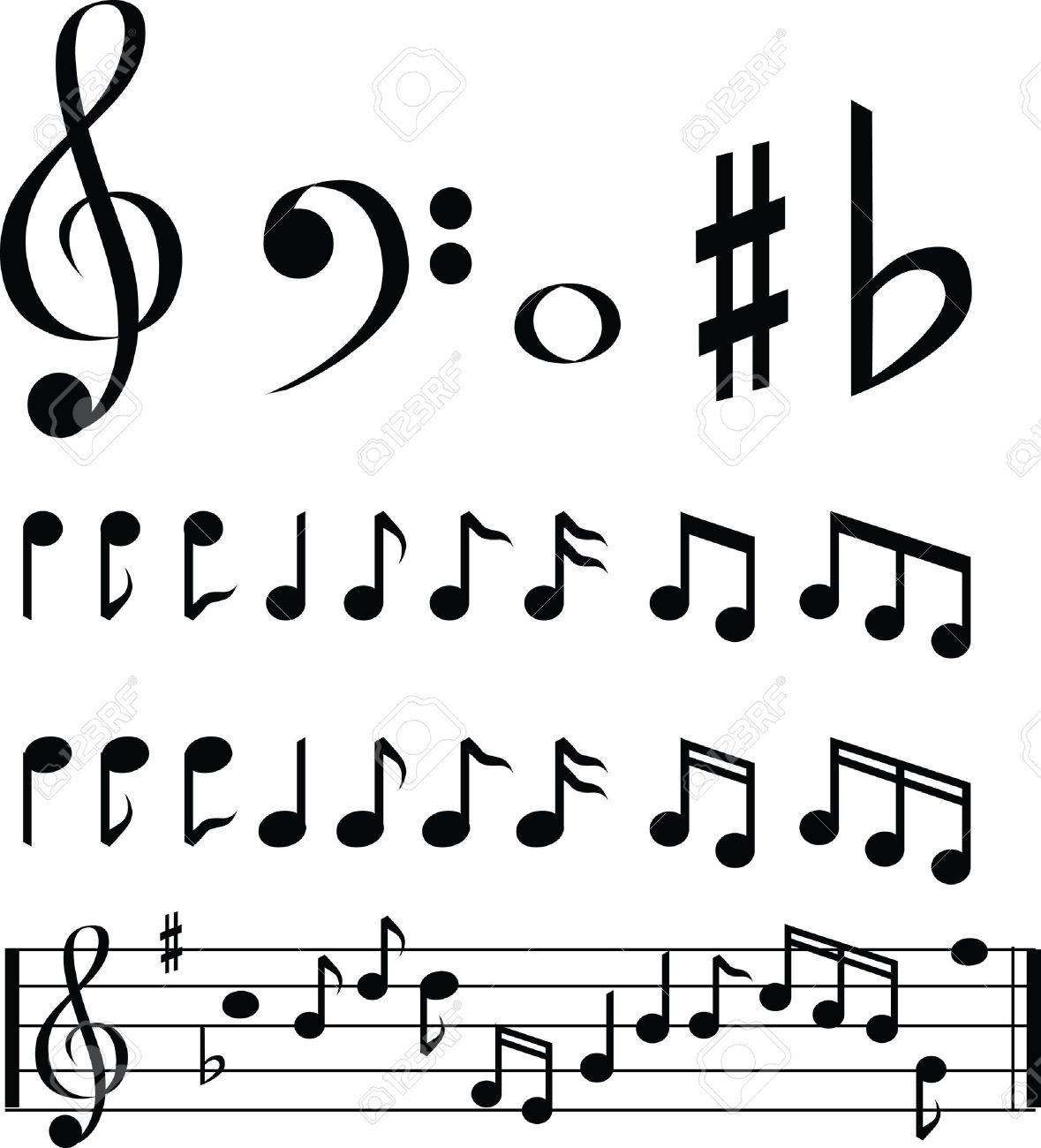 En Noir Et Blanc Note Icône De La Musique De Sélection Définis Clip