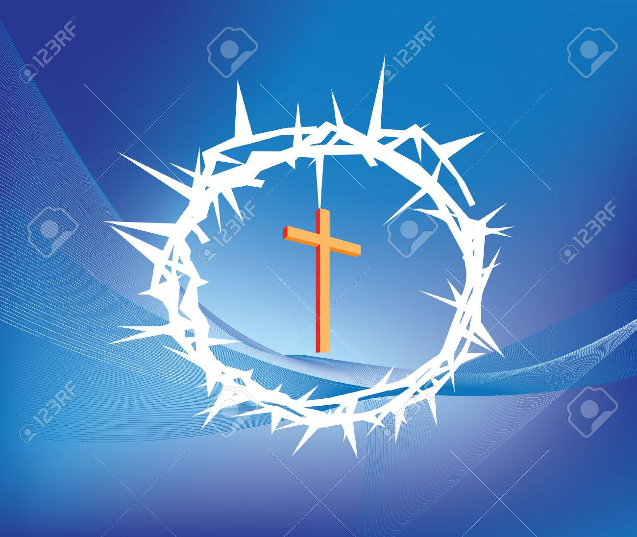 Illustration Of Crown Ofthorns And Christian Cross Royalty Free ...