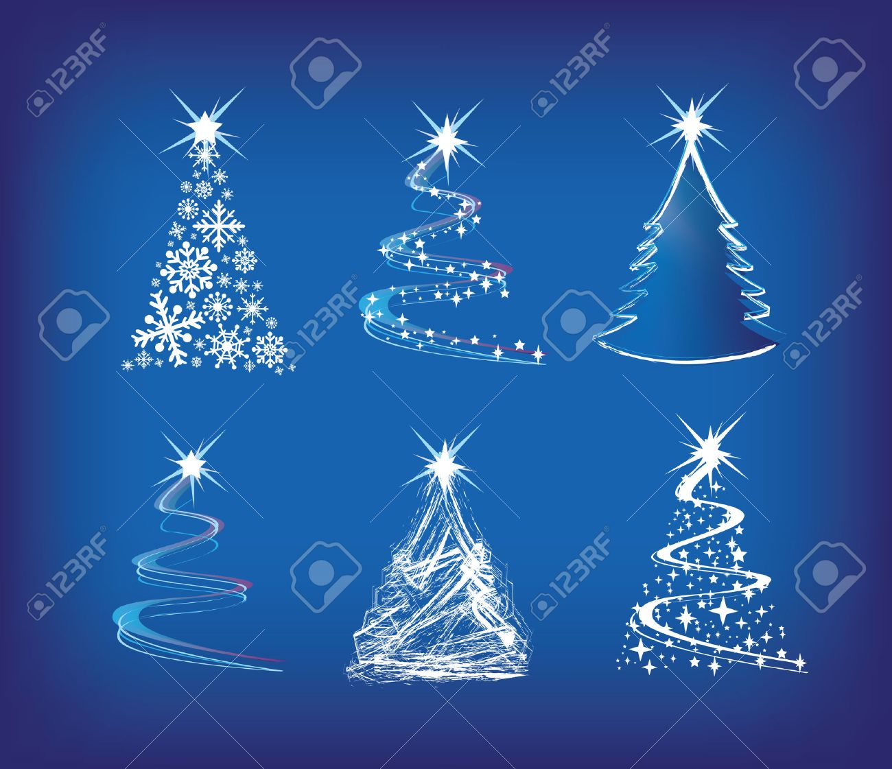 Christmas Trees Modern Illustration In A Loose Abstract Style Royalty Free Cliparts Vectors And Stock Illustration Image 5642414