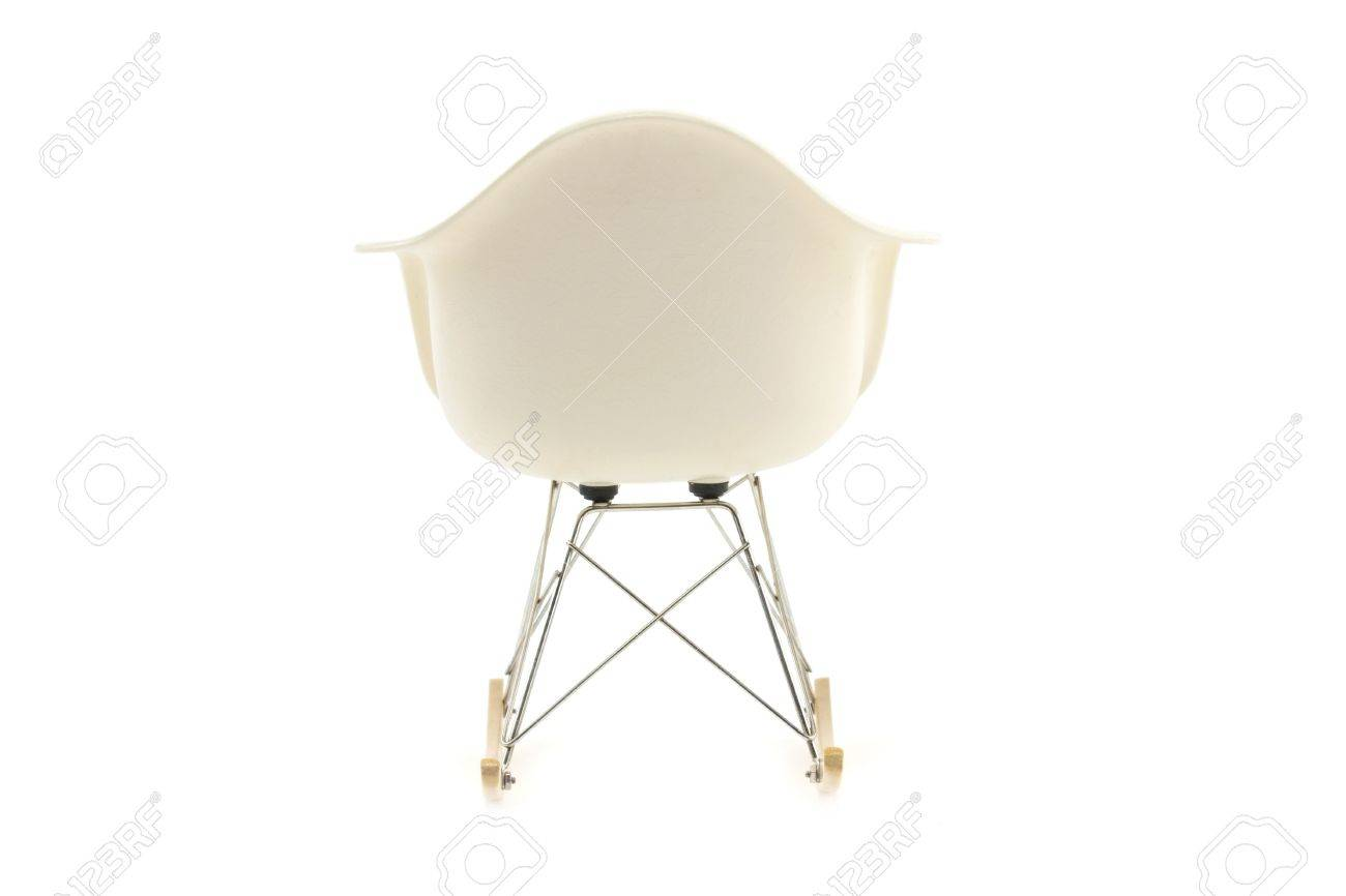 Marvelous Modern Design Classic Eames Rocking Chair On White Background Bralicious Painted Fabric Chair Ideas Braliciousco