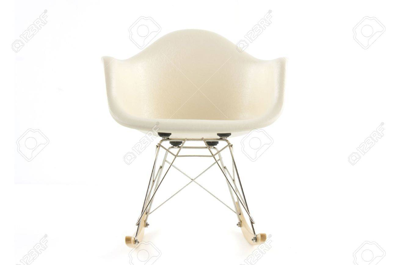 Modern design classic eames rocking chair on white background